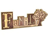 Personalized, Block Word Plaque, Family