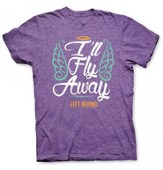 I'll Fly Away, Short Sleeve Regular Fit Tee Shirt, Purple Heather, Adult Large