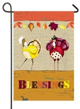 Blessings Turkeys Flag, Small