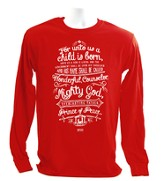 Names of Jesus, Long Sleeve Christmas Shirt, X-Large