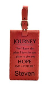 Personalized, Luggage Tag, For I Know, Red