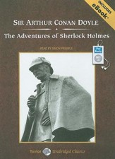 The Adventures of Sherlock Holmes, Unabridged Audiobook on MP3, includes eBook