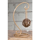 Harp Ornament Stand, Gold, 9 1/2 Inches