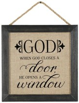 When God Closes A Door, He Opens A Window Wall Art