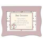 Train a Child Baby Dedication Music Box, Jesus Loves Me, Pink
