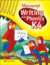 Writing with Phonics K4: Manuscript
