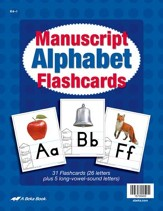 Abeka K4-K5 Manuscript Alphabet Flashcards
