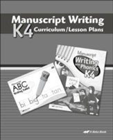Abeka K4 Manuscript Lesson Plans