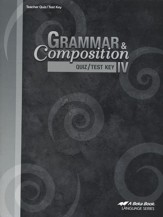 Grammar & Composition IV Quizzes/Tests Key
