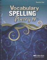 Vocabulary, Spelling, & Poetry IV Teacher Key
