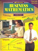 Abeka Business Mathematics Teacher Edition