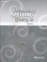 Abeka Vocabulary, Spelling, & Poetry IV Quizzes