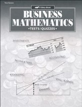 Abeka Business Mathematics Tests, Quizzes & Speed Drills