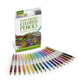 Dual-Ended Shading Colored Pencils, Pack of 18
