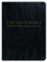The Holy Bible: CEV Black Bonded Leather, Compact Edition