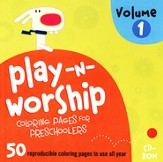 Play-n-Worship for Preschoolers Coloring Pages, Volume 1, CDROM