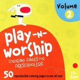 Play-n-Worship for Preschoolers Coloring Pages, Volume 2, CDROM
