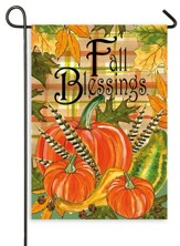 Fall Blessings, Flag, Small