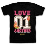 Love 01, Short Sleeve Adult Fit Tee Shirt, Black, Adult 2x-Large