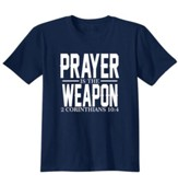 Prayer Is The Weapon, Shirt, Navy, 3X-Large