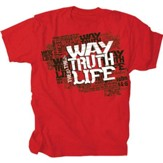 The Way, The Truth, The Life Shirt, Red, Large