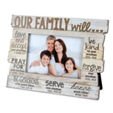 Our Family Stacked Words Photo Frame