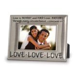 Love Love Love Photo Frame, 1 Corinthians 13:4, 7