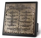 Ten Commandments Sculpture Plaque