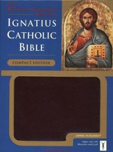 Ignatius Catholic Bible (RSV): Compact Edition - Imitation leather, Burgundy with Zipper