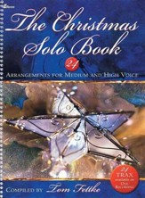 Christmas Solo Book, 24 Arrangements for Medium and High Voice