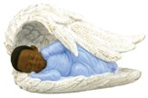 Baby Boy in Angel Wings Figurine