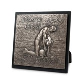 I Can Do Everything... Moments of Faith, Football Sculpture  Plaque