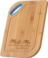 Mr. & Mrs., Bamboo Cutting Board