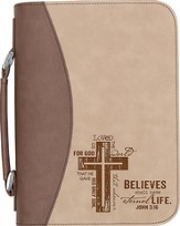 For God So Loved the World Bible Cover, Tan