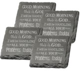 Good Morning, This Is God Coasters, Set of 4