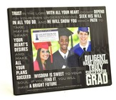 Graduate, Stacked Words Photo Frame