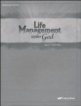 Abeka Life Management under God Quizzes & Tests Key