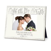 With All My Heart Wedding Frame