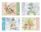 Songbirds Birthday Cards, Box of 12
