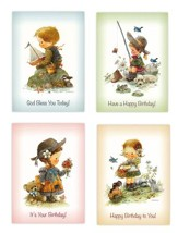 Childhood Dreams Children's Birthday Cards, Box of 12
