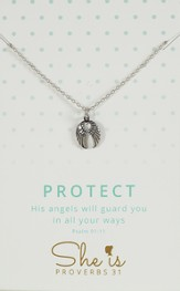 Protect, Angel Wings Necklace