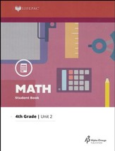 Lifepac Math Grade 4 Unit 2: Whole Number Multiplication/Fractions