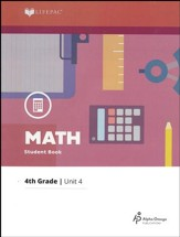 Lifepac Math Grade 4 Unit 4: Lines & Shapes, Multiplication w/Carrying