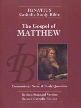 RSV The Gospel of Matthew Ignatius Catholic Study Bible