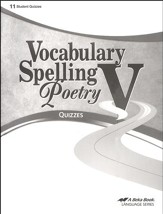 Abeka Vocabulary, Spelling, Poetry V  Quizzes