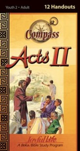Acts II Ch. 13-28: Paul's Ministry, Youth 2 to Adult Bible Study,  Weekly Compass Handouts