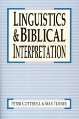 Linguistics and Biblical Interpretation