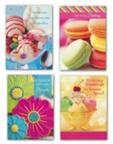 Desserts, Birthday Cards, Box of 12