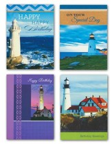 Lighthouses, Birthday Cards, Box of 12