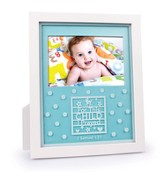 For This Child I Prayed Photo Frame, Blue